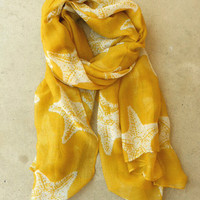 Sweet Starfish Scarf [3808] - $14.00 : Vintage Inspired Clothing & Affordable Summer Frocks, deloom | Modern. Vintage. Crafted.