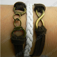 bracelet --- antique copper the golden handcuffs bracelets and unlimited bracelets, leather bracelet, leather woven bracelet