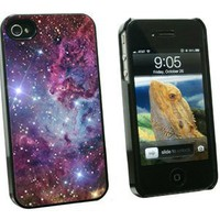 Fox Fur Nebula - Galaxy Space - Snap On Hard Protective Case for Apple iPhone 4 4S - Black:Amazon:Cell Phones & Accessories