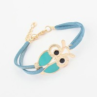 Blue Owl Fashion Bracelet | LilyFair Jewelry
