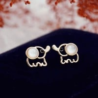 Elephant Mother of Pearl Earrings | LilyFair Jewelry