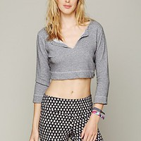 Free People French Terry Cropped Pullover