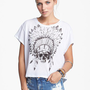 Lush Skull Graphic Crop Tee (Juniors) | Nordstrom