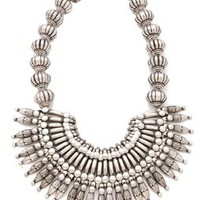Adia Kibur Silver Bib Necklace | SHOPBOP