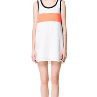DRESS WITH CENTRAL STRIPE - Dresses - Woman - ZARA United States
