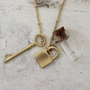 Lock & Key Necklace, Women's Sweet Country Inspired Jewelry