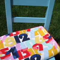 Minky Baby Blanket, Numbers, Gender Neutral Blanket, Stroller Blanket, Cynthia Rowley Fabric