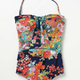 Anthropologie - Nanette Lepore Kimono Floral Seductress One Piece