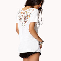Crocheted Linen-Blend Top | FOREVER 21 - 2046925915