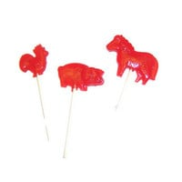 45 Farm Animals Lollipops - Chicken , Pig , Horse - Party Favors