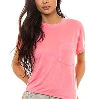 Cheap Monday Tee Holly in Strawberry Pink