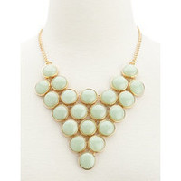 Beaded Triangle Bib Necklace: Charlotte Russe