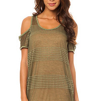Nikita Dress Eagle in Olivine