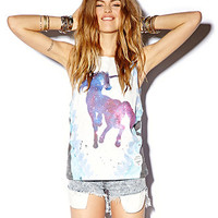 Rhinestoned Unicorn Muscle Tee | FOREVER 21 - 2074529731