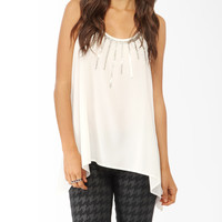 Sequined Trapeze Tank