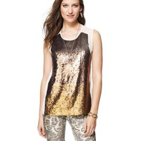 Juicy Sunrise Sequin Top
