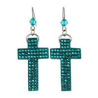 Tarina Tarantino Micro Pave Cross Earrings