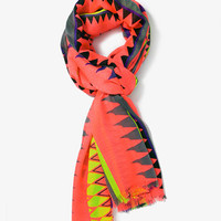 Multicolored Geo Print Scarf