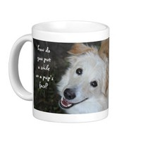 Don't Shop...Adopt, Happy Pup Rescue Mug from Zazzle.com