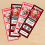 Ladybug Birthday Ticket Invitations Printable, DIY File