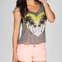 FULL TILT Heart Palm Womens Muscle Tank