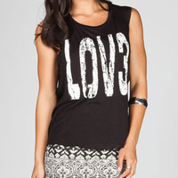 FULL TILT Love Womens Tunic