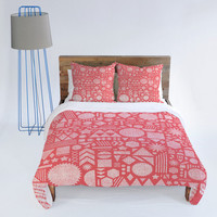 DENY Designs Home Accessories | Nick Nelson Modern Elements In Bubble Gum Duvet Cover