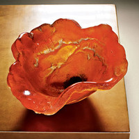 Amanda Brisbane Orange Poppy Bowl