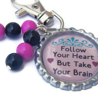 Backpack Zipper Pull , Girls Zipper Pull , Girls Luggage Tag , Bottle Cap Zipper Pull