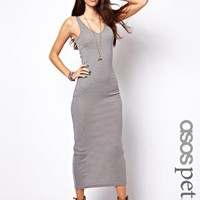 ASOS PETITE Exclusive Maxi Dress with V Neck at asos.com