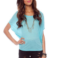 Well Rounded Knit Top in Sky Blue :: tobi