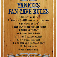 New York Yankees Fan Cave Rules 10