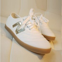 White PU Leather Glitter Sneakers
