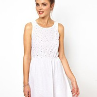 River Island Broidery Front Dress at asos.com