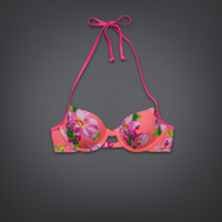 Floral Push 'Em Up Balconet Swim Top