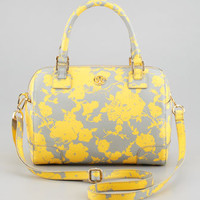 Robinson Middy Satchel Bag, Yellow/Gray