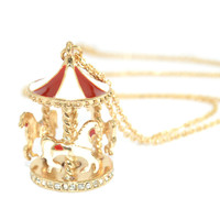 Retro Carousel Necklace