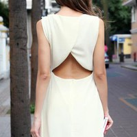 Starry sexy halter apricot chiffon dress