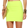 Neon Yellow Basic Mini Skirt