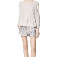 PAISLEY FLOWING SHORTS - Shorts - Woman - ZARA United States
