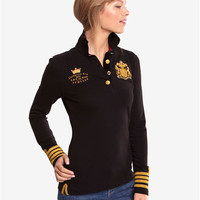 Black Natalya Womens Polo  | Joules US