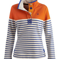 Pumpkin Cowdray Womens Striped Sweater  | Joules US
