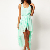 http://abby.storenvy.com —  Mint chiffon Long skirt dress