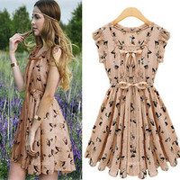 http://abby.storenvy.com — Chiffon Movement printing dress