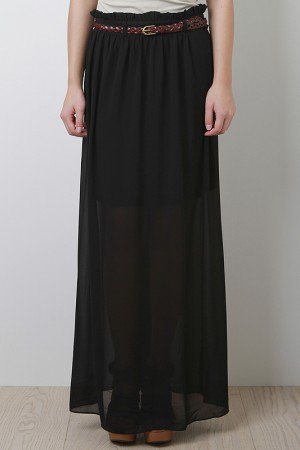 Simple Style Maxi Skirt