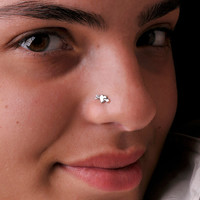 Cupid Heart Nose Stud- Sterling Silver.