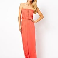 ASOS Bandeau Jersey Maxi Beach Dress at asos.com