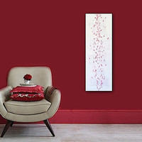 "Abstract Acrylic Painting Original Fine Art 12""x36"" by Linnea Heide - red white - modern - geometric"