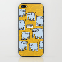 Elephant Cluster iPhone &amp; iPod Skin by Mirabilis