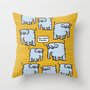Elephant Cluster Throw Pillow by Mirabilis